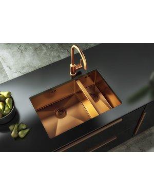 Luxury Tiles Midas Copper Undermount Kitchen Sink with base