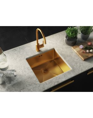 Ellsi Ellsi Elite Gold Undermount sink with waste
