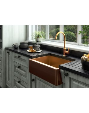 Luxury Tiles Midas Statement Copper Kitchen Sink