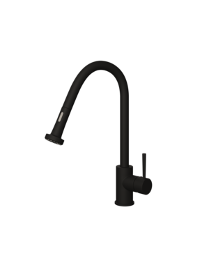 Ellsi Ellsi Marino Black Pull Out Mixer Tap