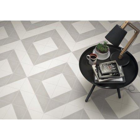 Luxury Tiles Aspen Light Grey and White Triangle Porcelain 200x200 Tile