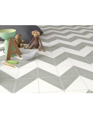 Luxury Tiles Aspen Dark Grey and White Triangle Porcelain Tile