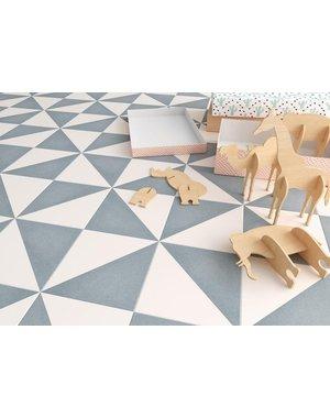 Luxury Tiles Aspen Blue and White Triangle Porcelain Tile