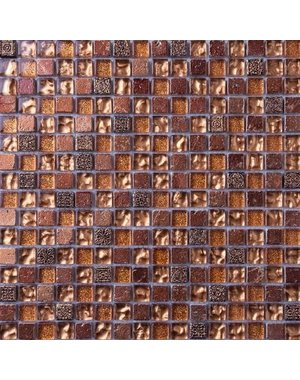 Luxury Tiles Polanco Copper & Bronze Mix Mosaic Tile