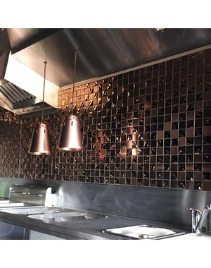 Luxury Tiles Copper Metallica Stainless steel Mosaic Tile