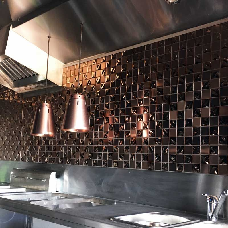Copper Metallica Stainless Steel Mosaic Tile Luxury Tiles