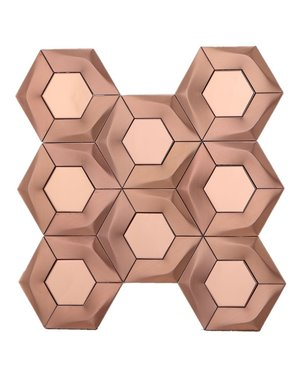 Luxury Tiles Brushed Copper Hexagon Mosaic Tile