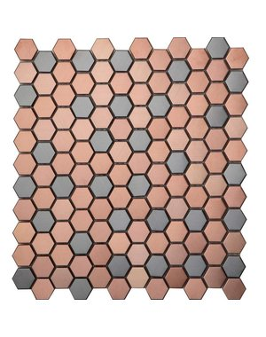 Luxury Tiles Bronze Hexagon Hive Mix Mosaic Tile