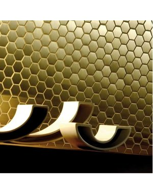 Luxury Tiles Golden Honey Hive Hexagon Mosaic Tile