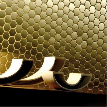 Luxury Tiles Golden Honey Hive Hexagon Mosaic Tile