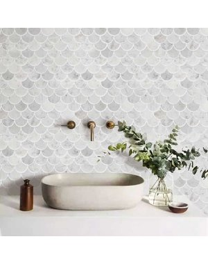 Luxury Tiles Marble Drop Mosaic Tile