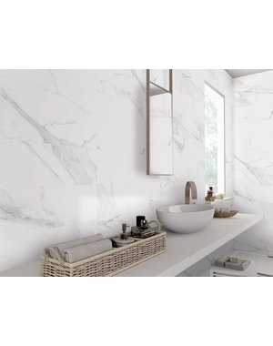 Luxury Tiles Carrara Parka Matt Marble Tile 300x600mm