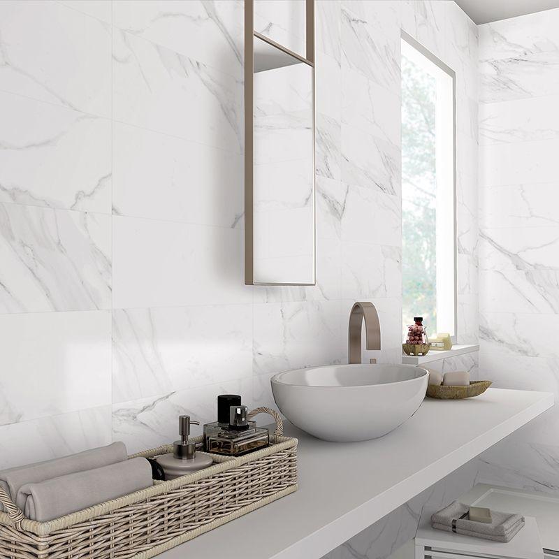 Carrara Parka Matt Marble Tile 30x60cm, Carrara Marble Tiles Bathroom