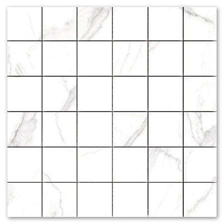 Luxury Tiles Carrara Parka Matt Marble Mosaic Tile