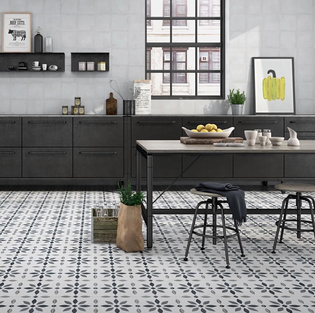 Luxury Tiles The Modern Flower Pattern Floor tile 9x9mm