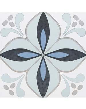 Luxury Tiles Aqua Flower wall and floor tile