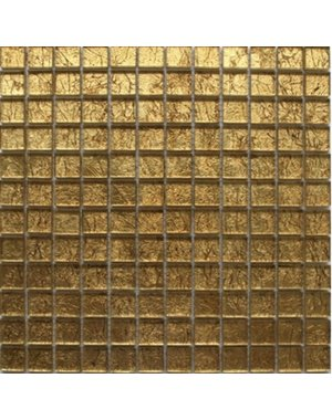Luxury Tiles Alexandra Gold Glass Mosaic Tile 300x300mm