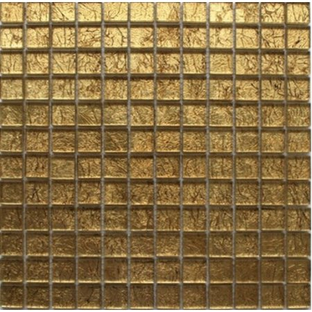 Luxury Tiles Alexandra Gold Glass Mosaic Tile 30x30cm
