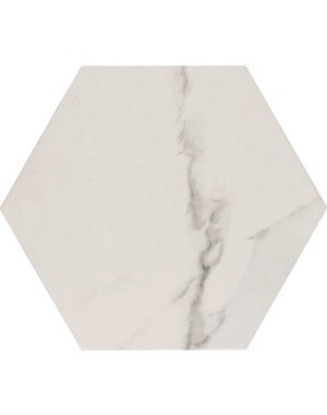 Luxury Tiles White  Hexagon Flat Tile