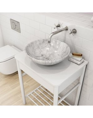 Luxury Tiles Calacatta Marble Basin Sink
