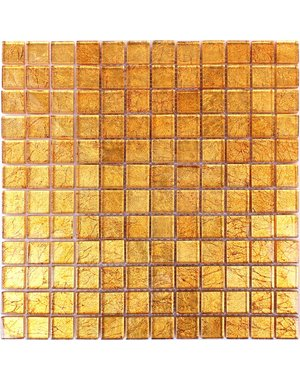 Luxury Tiles Sunset Gold Glass Mosaic Tile 300x300mm