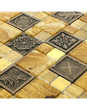 Luxury Tiles Golden Maple Mix Mosaic Tile