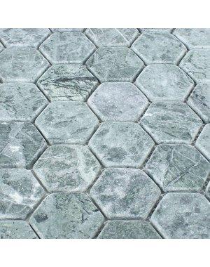 Luxury Tiles Grey Marble Hexagon Mosaic Tile