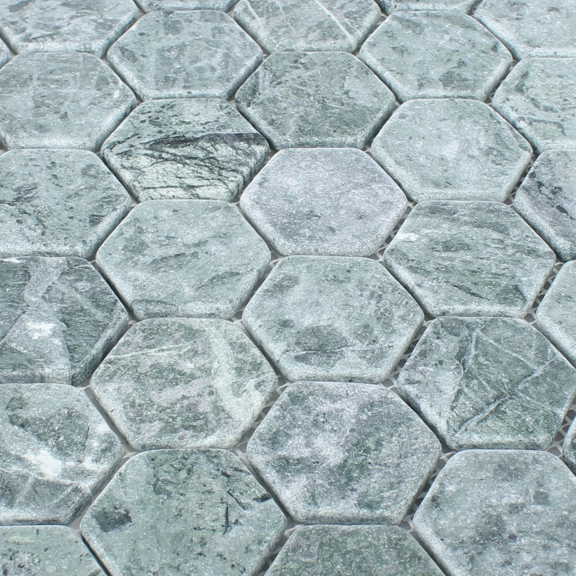 Grey Marble Hexagon Mosaic Tile Luxury Tiles