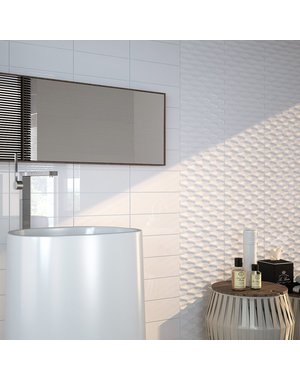 Luxury Tiles White Ceramic Metro tile 30x10cm