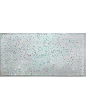 Luxury Tiles Transparent White Glass Glitter Metro tile 7.5x15cm