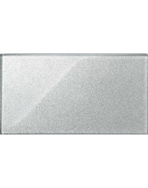 Luxury Tiles Grey Glass Glitter Metro tile 30x15cm