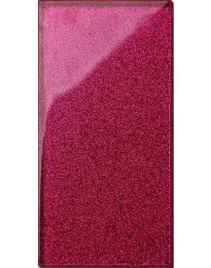 Luxury Tiles Pink Glass Glitter Metro tile 7.5x15cm