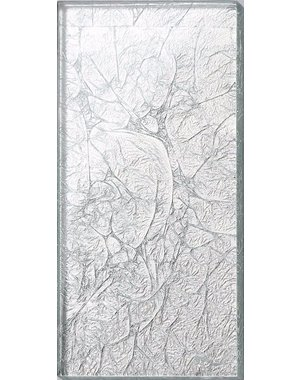 Luxury Tiles Silver Frost Glass Metro tile 7.5x15cm