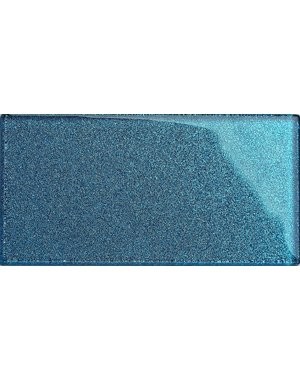 Luxury Tiles Blue Glass Glitter Metro tile 7.5x15cm