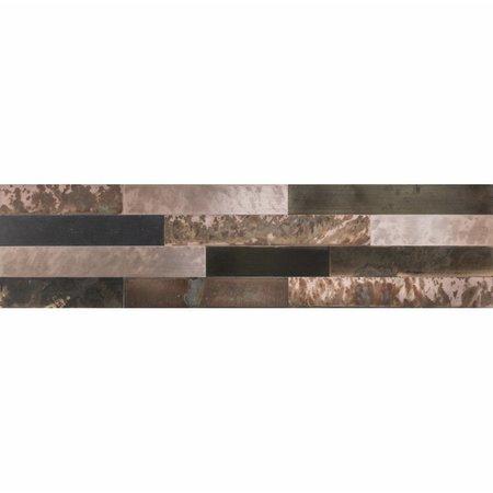 Luxury Tiles Bronze Mix Self Adhesive Tile 150x600mm