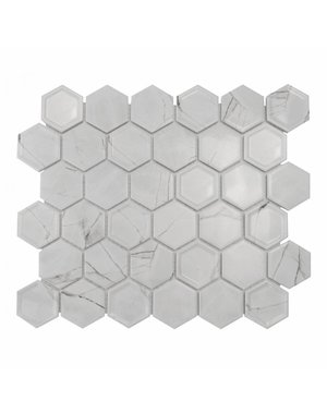 Luxury Tiles White Hex Marble Decor Mosaic Tile