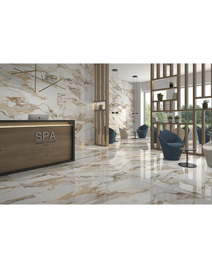 Luxury Tiles Golden Marble Effect 60x60cm Tile
