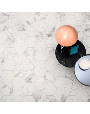 Luxury Tiles Tuscany White Hexagon Marble Effect tile