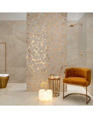Luxury Tiles Hexagon Gold Honeycomb Mosaic Tile