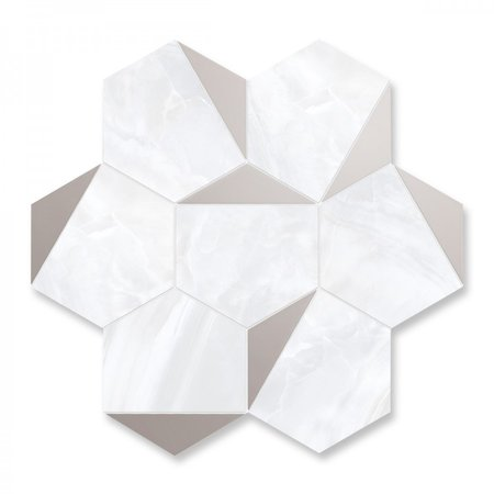 Luxury Tiles Hexagon Silver Ice Mosaic Tile