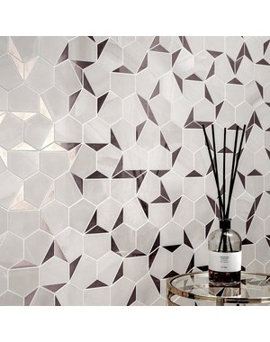 Luxury Tiles Hexagon Silver Ice Mosaic Tile