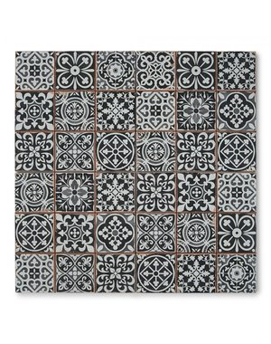 Luxury Tiles Cavendish Black Pattern Tiles 330x330mm