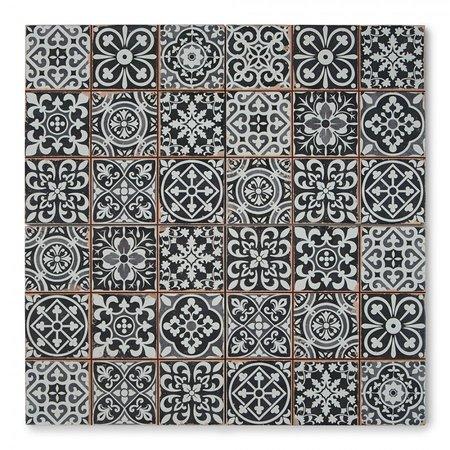 Luxury Tiles Cavendish Black Pattern Tiles 330x330mm