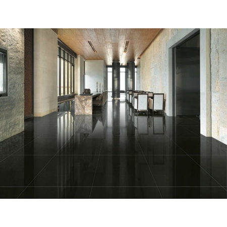 Luxury Tiles Extreme Black Polished Porcelain Tile