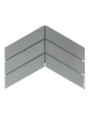 Luxury Tiles Chevron Grey decor tile