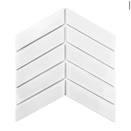 Luxury Tiles Chevron Gloss white decor tile