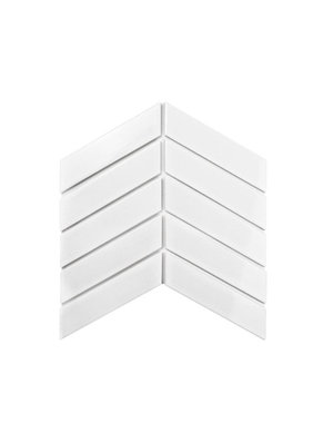 Luxury Tiles Chevron white decor tile