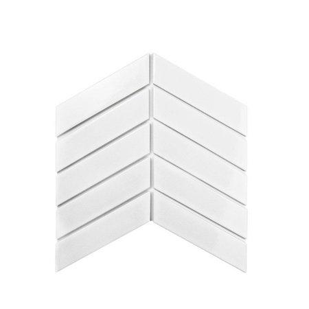 Luxury Tiles Chevron white decor tile