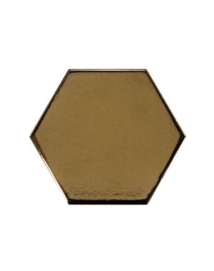 Luxury Tiles Metallica Gold Hexagon Tile