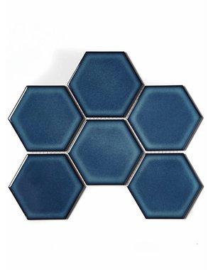 Luxury Tiles Hex Royal Blue Mosaic Sheet
